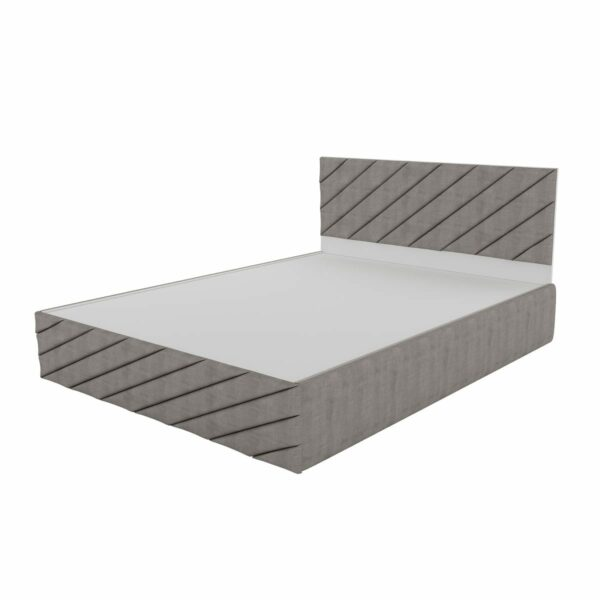 Spiral Curve Queen Size Upholstery Bed with Hydraulic Storage